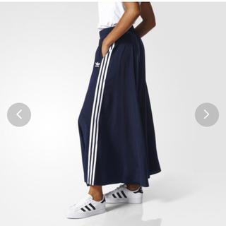 アディダス(adidas)のadidas オリジナルススカート3 STRIPES LONG SKIRT XS(ロングスカート)