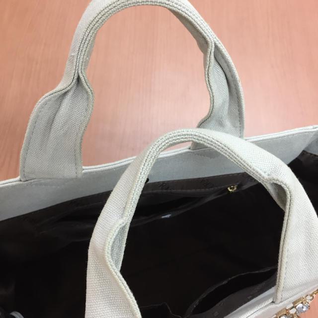 DURAS(デュラス)のDURAS⋆カナパ風ビジュトートバッグ♡   レディースのバッグ(トートバッグ)の商品写真