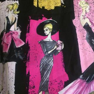 バービー(Barbie)のアメリカ購入ヴィンテージな柄のバービー生地リメイクや手作りに(生地/糸)