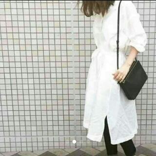 ユニクロ(UNIQLO)のご専用【新品】コットンリネン ロングシャツ(トレンチコート)