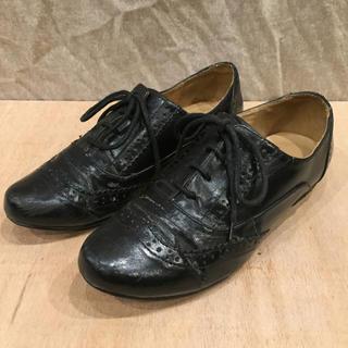 ランダ(RANDA)のウィングチップ ドレスシューズ レディース 合皮 Mサイズ(ローファー/革靴)