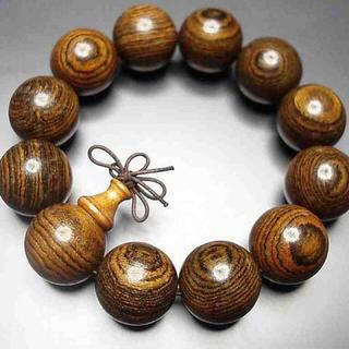 『癒しの香り』天然ベトナム産虎紋檀木大玉20ミリ念珠