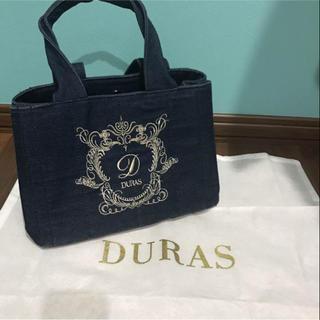 デュラス(DURAS)の美品 DURAS デニムバック(ハンドバッグ)