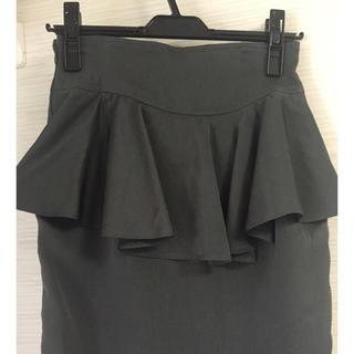 ロキエ(Lochie)のvintage バックペプラム付タイトスカート(ひざ丈スカート)
