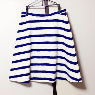 デミルクスビームス(Demi-Luxe BEAMS)のボーダージャガードフレアーススカート(ひざ丈スカート)