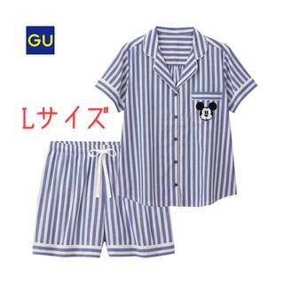 ジーユー(GU)のGU♡ディズニー パジャマ ミッキー ブルー L 大人気 完売 入手困難(パジャマ)