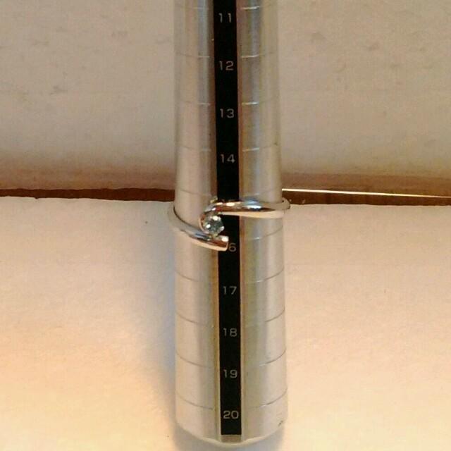 オーダーメイド ブルートパーズ リング ピンキーリング ホワイトゴールド k18 レディースのアクセサリー(リング(指輪))の商品写真