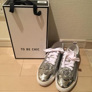 トゥービーシック(TO BE CHIC)の今季 To be chic スニーカー サイズL(スニーカー)
