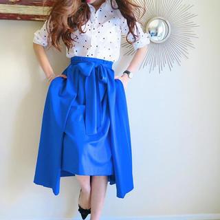 チェスティ(Chesty)の気まぐれSALE♡rosymonster リボンスカート ブルー(ロングスカート)
