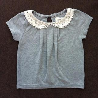 シマムラ(しまむら)のかぎ針編みレース襟Tシャツ♡95cm(Tシャツ/カットソー)