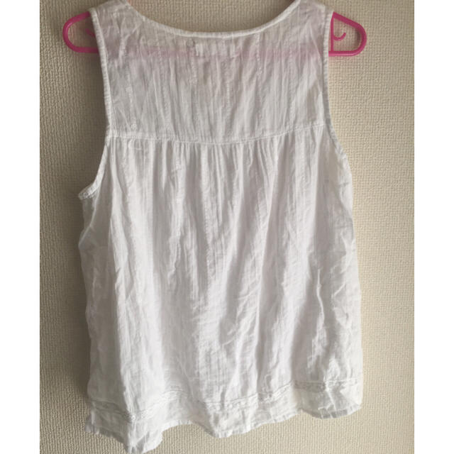 SM2(サマンサモスモス)のSM2白レースブラウス ノースリーブ レディースのトップス(シャツ/ブラウス(半袖/袖なし))の商品写真