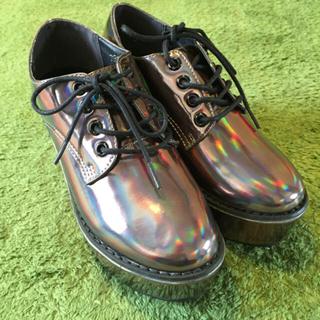 ウルラ(Ulula)のSサイズ厚底プラットホームレースアップシューズ(ローファー/革靴)