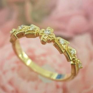 アーカー(AHKAH)の半額以下!AHKAHアーカーミラリングk18ダイヤモンド5.5号ピンキー廃盤レア(リング(指輪))