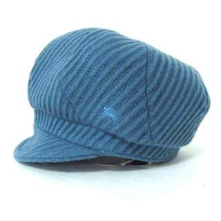 バーバリー(BURBERRY)の[[新品] バーバリー ブルーレーベル ウール×ナイロン ハンチング帽子 水色(ハンチング/ベレー帽)