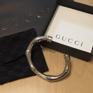 グッチ(Gucci)のGUCCI❤️バンブー❤️バックル❤️シルバー❤️美品(バングル/リストバンド)