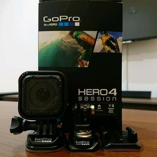 ゴープロ(GoPro)の☆美品 GoPro HERO4 session CHDHS-101-JP☆(ビデオカメラ)