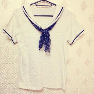 ミスティウーマン(mysty woman)のmystywoman♡セーラーカットソー(Tシャツ(半袖/袖なし))