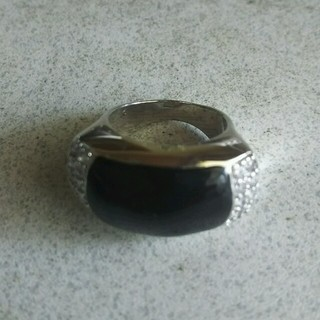 ブラックオニキス風リング(リング(指輪))