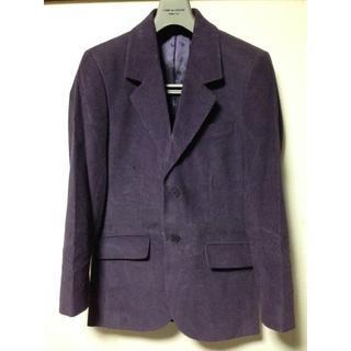 アニエスベー(agnes b.)のagnes b. homme コーデュロイ ジャケット 44紫 アニエスベーオム(テーラードジャケット)