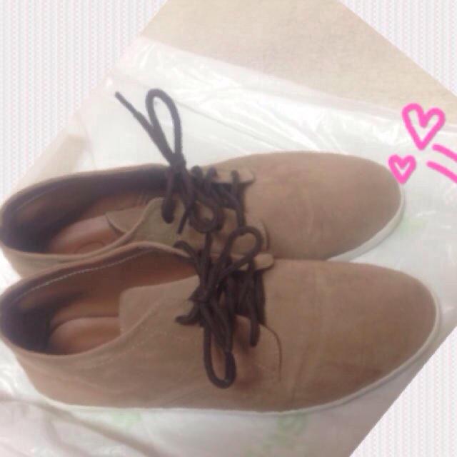 ブラウン ショートブーツ レディースの靴/シューズ(ブーツ)の商品写真