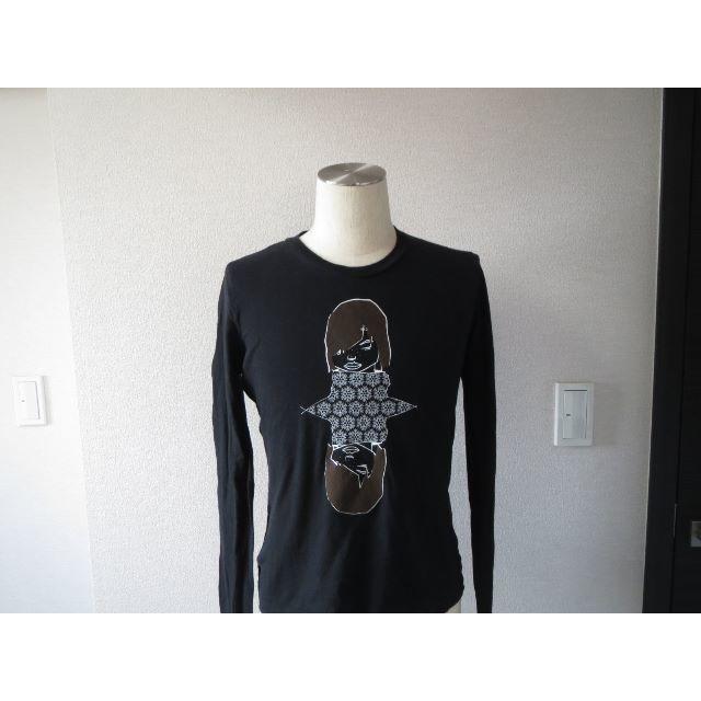 PRADA(プラダ)の●2万プラダスポーツライン限定アートガーリーロンTシャツ黒カットソーバックロゴ レディースのトップス(Tシャツ(長袖/七分))の商品写真