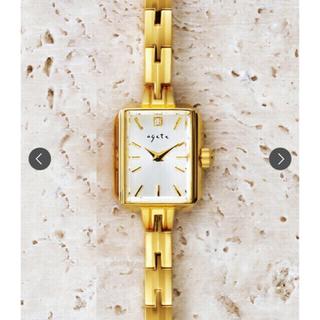 アガット(agete)のagete スクエアフェイスジュエリーウォッチ  腕時計  YG(腕時計)