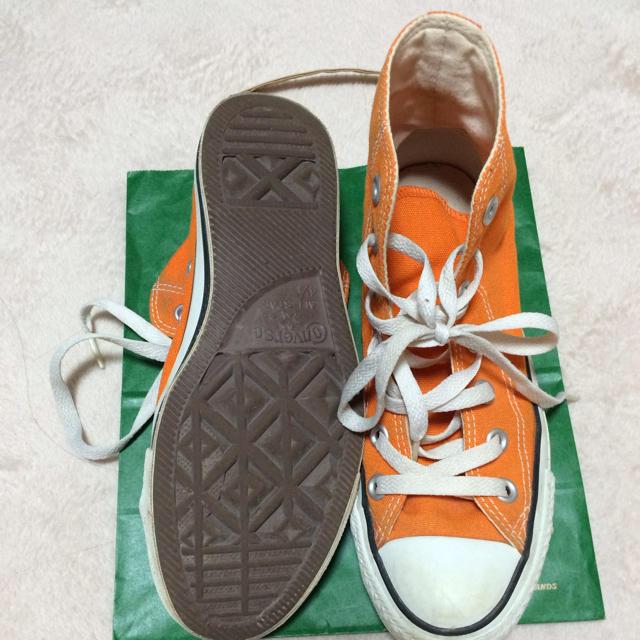 CONVERSE(コンバース)のコンバース オレンジハイカット レディースの靴/シューズ(スニーカー)の商品写真