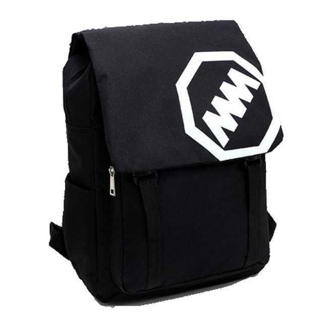 88c907069e29 MMロゴ リュック スクエア型デイパック 大容量バックパック 黒 レディースのバッグ(リュック