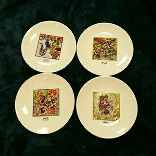 ジミー(Jimmy)のジミー大西 絵皿 4枚セット  画家(食器)