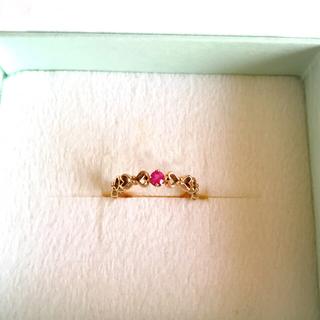 美品♥ADA♥K10PGハートデザインピンキーリング(リング(指輪))