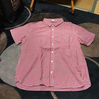 ジーユー(GU)の赤チェックシャツ(シャツ/ブラウス(半袖/袖なし))