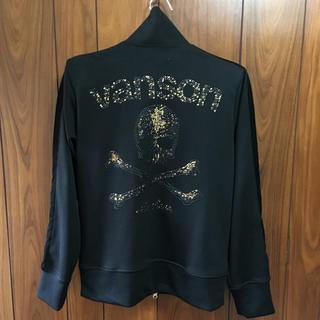 バンソン(VANSON)のVANSON バンソン 男女兼用 Mサイズ刺繍&スタッズ 薄手トラックジャケット(ブルゾン)