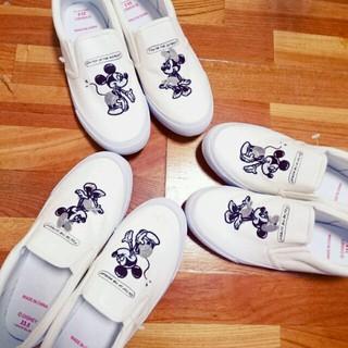ディズニー(Disney)のディズニースリッポン❤モノトーン(スリッポン/モカシン)
