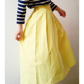 ジーユー(GU)のGU ステップドヘムフレアスカート新品(ひざ丈スカート)