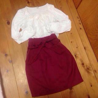 プーラフリーム(pour la frime)のオフィスにも♡上品スカート(ひざ丈スカート)