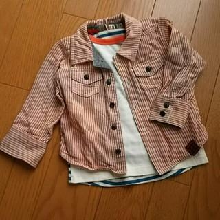 ブランシェス(Branshes)のRESRUDY ストライプシャツ 90㎝(Tシャツ/カットソー)