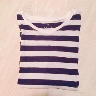 ムジルシリョウヒン(MUJI (無印良品))の無印 ボーダー レディース Tシャツ(Tシャツ(半袖/袖なし))