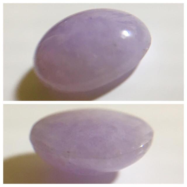 【5月誕生石】癒しの紫。ラベンダー翡翠 2ct ルース 9×7mm位 レディースのアクセサリー(その他)の商品写真