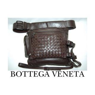 ボッテガヴェネタ(Bottega Veneta)のボッテガヴェネタ イントレチャート ウエストバッグ(ダークブラウン)(ウエストポーチ)