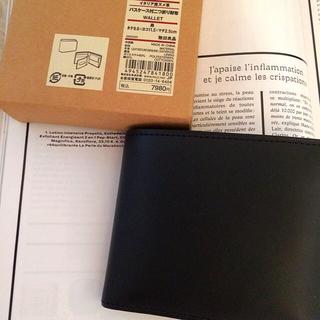 ムジルシリョウヒン(MUJI (無印良品))の【新品】MUJI イタリア産ヌメ革パスケース付二つ折り財布 (財布)