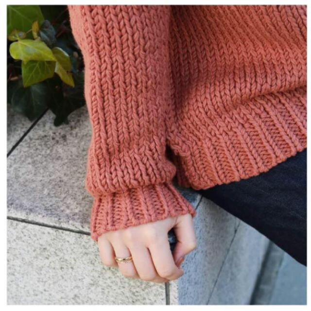 TODAYFUL(トゥデイフル)のTODAYFUL ハイネックハンドニット ざっくり編み 秋 冬 サン オレンジ レディースのトップス(ニット/セーター)の商品写真