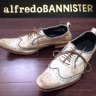 アルフレッドバニスター(alfredoBANNISTER)のアルフレッドバニスター送料無料¥定価3,5万程レザーシューズ革靴42ロングノーズ(ドレス/ビジネス)