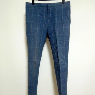 """ジーユー(GU)の【 GU 】  """"Windowpane""""Slim Pants(スラックス)"""
