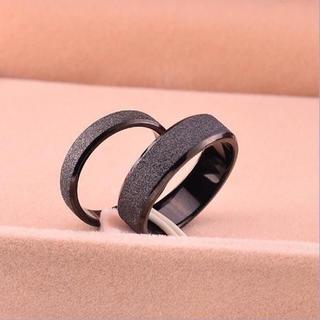 チタン ブラックリング4号(リング(指輪))