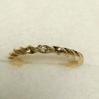 アガット(agete)のagete K10 0,01Ctダイヤモンドリング(リング(指輪))