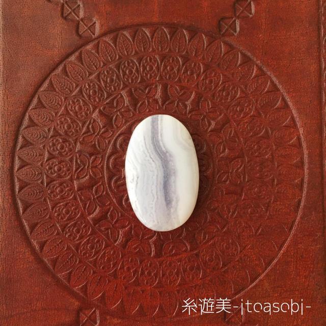 ブルーレースアゲート⑤ルース  カボション  天然石 ハンドメイドの素材/材料(各種パーツ)の商品写真