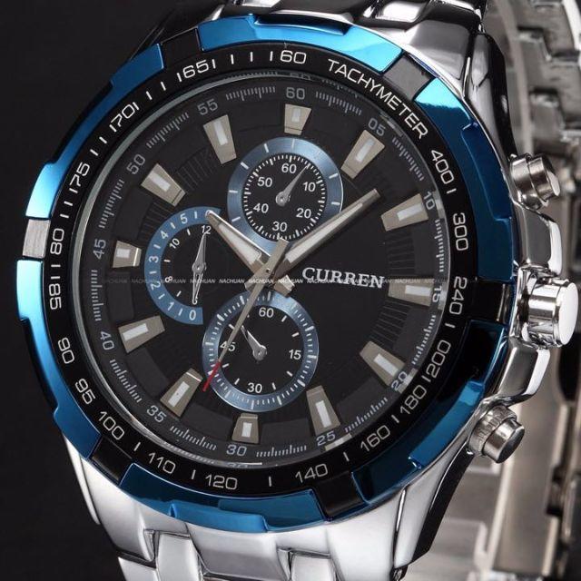 【日本未発売新品 人気ブランド】 CURREN 腕時計 シルバー メンズの時計(腕時計(アナログ))の商品写真