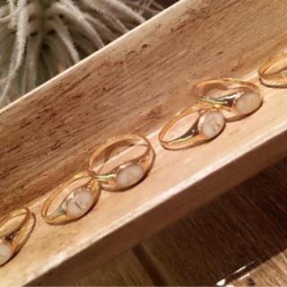 トゥデイフル(TODAYFUL)のTODAYFUL 廃盤レア イニシャルリング アルファベットリング A ゴールド(リング(指輪))