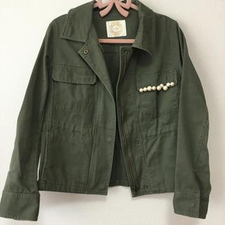 プロポーションボディドレッシング(PROPORTION BODY DRESSING)のパール付きミリタリージャケット(ミリタリージャケット)