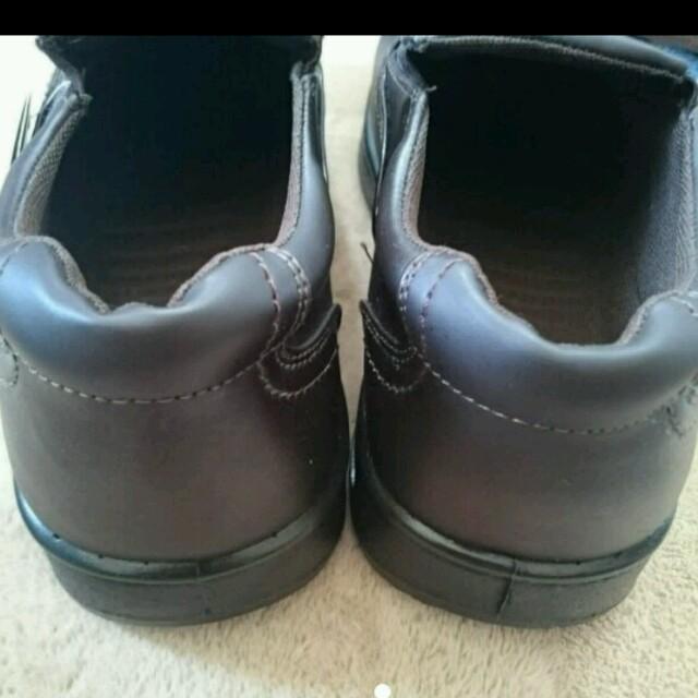 メンズ★新品★ウォーキングスリッポンシューズ【26,0cm】ダークブラウン メンズの靴/シューズ(スリッポン/モカシン)の商品写真